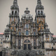 Cathedral Of Santiago De Compostela Art Print by Jasna Buncic
