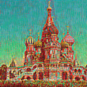 Cathedral Of St. Basil, Moscow Russia Art Print