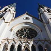 Cathedral Of St John The Babtist In Savannah Art Print