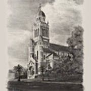 Cathedral Of St John The Evangelist Art Print by Ron Landry