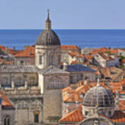 Cathedral Of The Assumption Of The Virgin In Dubrovnik Art Print