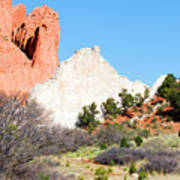 Cathedral Rock In Garden Of The Gods Park Art Print