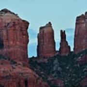 Cathedral Rock Moon 081913 H Art Print