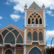 Catholic Church In Ibarra Art Print