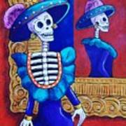 Catrina In The Mirror Art Print