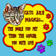 Cats Are Magical Art Print