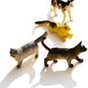Cats Figurines Art Print