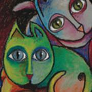 Cats I  2000 Art Print