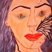 Catt Women Art Print