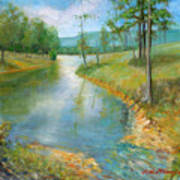 Cattle Cooling Pond Art Print by Max Mckenzie