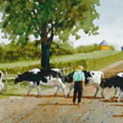 Cattle Crossing Art Print