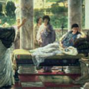Catullus Reading His Poems Art Print