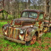 Caught Behind 1947 Ford Stakebed Pickup Truck Art Art Print