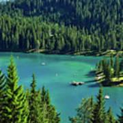 Caumasee Lake Switzerland Art Print