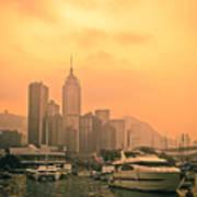Causeway Bay At Sunset Art Print