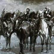 Cavalry In An Arizona Sandstorm 1889 Art Print