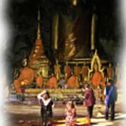 Cave Of The Bat Temple 1 Art Print