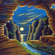 Cave With Cliffs Art Print