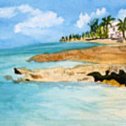 Cayman Shoreline Art Print