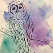 Cecil The Sad Owl Art Print