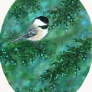 Cedar Chickadees - Bird 1 Art Print