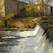 Cedar Creek Dam Art Print