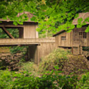 Cedar Creek Mill And Covered Bridge Art Print