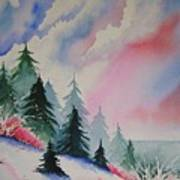 Cedar Fork Snow Art Print