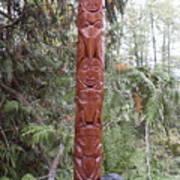 Cedar Sun Totem Art Print