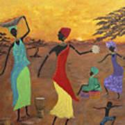 Celebrate Art Print by Judy M Watts-Rohanna