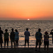 Celebrating The Sunset Art Print
