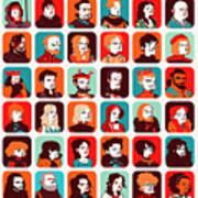 Celebrities Art Print