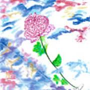 Celestial Rose Art Print