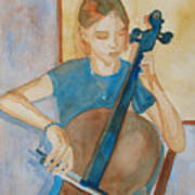 Cello Practice Iv Art Print