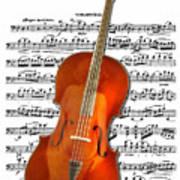 Cello With Clara Bow Art Print