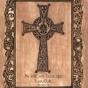 Celtic Cross Art Print by Debbie DeWitt
