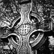 Celtic Cross Detail Killarney Ireland Print by Teresa Mucha