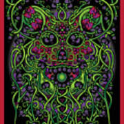 Celtic Day Of The Dead Skull Art Print