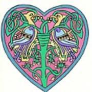 Celtic Heart Art Print