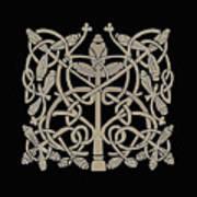 Celtic Leaves Knots One Art Print