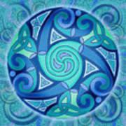 Celtic Planet Art Print by Kristen Fox