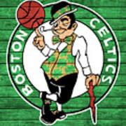 Celtics Barn Door Art Print