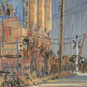 Cement Hopper Art Print by Donald Maier