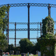 Cemetery And Gas Works Art Print