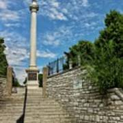 Cemetery Entrance And Lovejoy Monument  Art Print