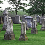 Cemetery Grunge Art Print