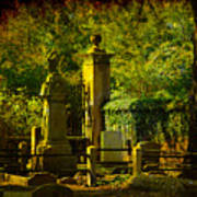 Cemetery In Charleston Art Print