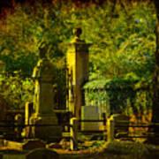 Cemetery In Charleston Art Print