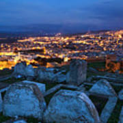 Cemetery Overlooking Fes, Morocco Art Print