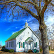 Centennial Christian Church Rural Greene County Georgia Art Print